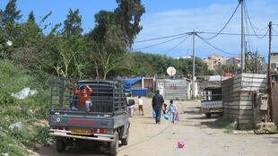 Le bidonville de champ agricole Ben Boulaïd, près d'Alger