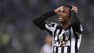 Robinho, pictured playing for Atletico Mineiro in 2017