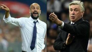 Pep Guardiola (gauche) quitte le Bayern et sera remplacé par Carlo Ancelotti.