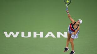 La jugadora australiana Ashleigh Barty, en el Abierto de tenis de Wuhan, en China, el 26 de septiembre de 2018