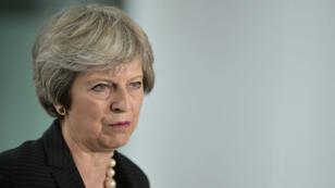 رئيسة وزراء بريطانيا تيريزا ماي في بلفاست، في 20 تموز/يوليو 2018.