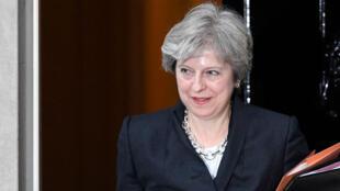 Theresa May emitió un discurso sobre las negociaciones del Brexit en Downing Street, sede del Parlamento Británico en Londres.