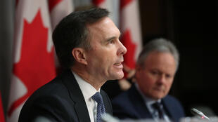 "Canada's Finance Minister Bill Morneau, pictured in March 2020, said the cash would ensure hard-hit companies could ""rebound quickly"""