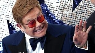 Elton John, seen here at the UK premiere of 'Rocketman' in May, has condemned Russia's decision to cut gay sex scenes from the film