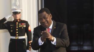 Le président béninois Thomas Boni Yayi invité à la Maison blanche le 5 août 2014.