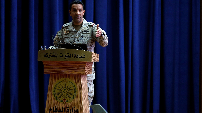 """الناطق باسم """"تحالف دعم الشرعية في اليمن"""" العقيد تركي المالكي."""
