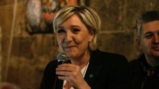 مارين لوبان مرشحة اليمين المتطرف في جبيل في 19 شباط/فبراير 2017