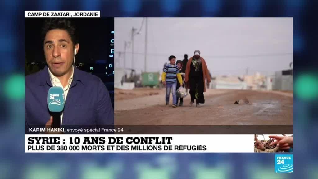 2021-03-15 18:18 10 ans de guerre en Syrie : en Jordanie, l'immense camp de Zaatari accueille les réfugiés syriens