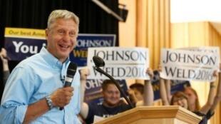 المرشح المستقل إلى البيت الأبيض غاري جونسون