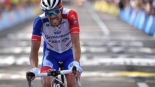 Le Français Thibaut Pinot 2e de la 8e étape du Tour de France le 13 juillet 2019