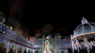 Défilé croisière Dior à Lecce, dans le sud de l'Italie, le 22 juillet 2020