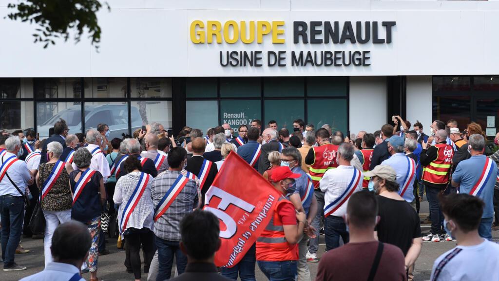 Manifestation à Maubeuge contre le plan de restructuration de Renault