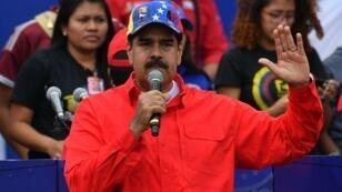 Nicolás Maduro durant un meeting, le 2 février 2019.