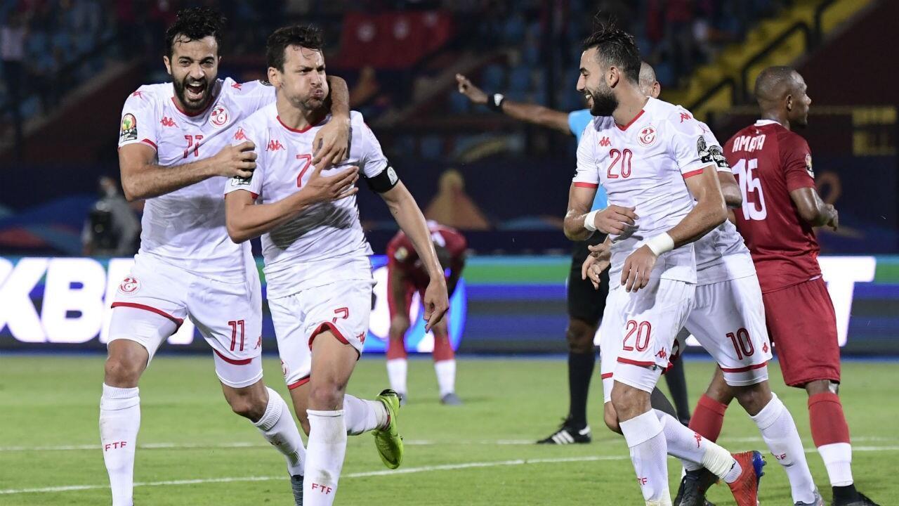 يوسف المساكني صاحب الهدف الثاني أمام مدغشقر في ربع النهائي. 11 يوليو 2019.