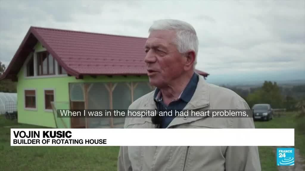 2021-10-12 09:42 Bosnian builds rotating house so that his wife has diversified view