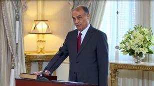 Captura de pantalla. AFP. Abdel-Raouf El-Sherif al jurar su cargo como ministro de Salud. 14 de noviembre de 2018.