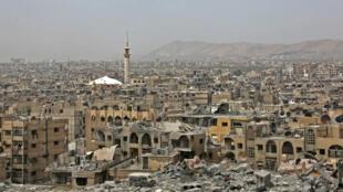 مشهد لمنطقة دوما، دمشق، 17 أبريل/نيسان 2018