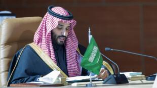 محمد بن سلمان خلال قمة دول مجلس التعاون الخليجي، في يناير/كانون الثاني 2021.