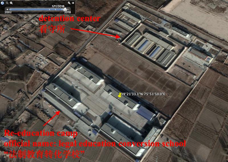 Image satellite extraite du travail de Shawn Zhang, étudiant en droit.