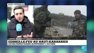 """2020-12-01 06:37 Haut Karabakh : """"Pour la première fois, les Russes sont militairement présents dans les trois pays du Caucase Sud"""""""