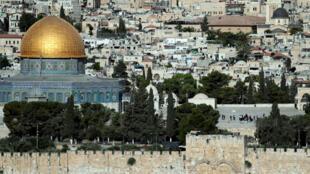 مسجد قبة الصخرة في مدينة القدس الشرقية المحتلة