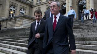L'ancien collaborateur de Nicolas Sarkozy, Claude Guéant, lors de son procès en première instance dans l'affaire des primes en liquide, le 13 novembre 2015.