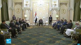 صورة للرئيس اليمني عبد ربه منصور هادي ملتقطة من شاشة فرانس24