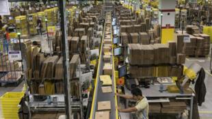 Un entrepôt Amazon à Rheinberg, en Allemagne, en 2011.