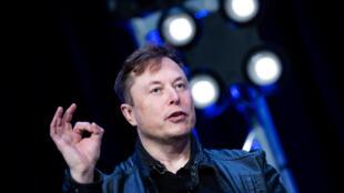Elon Musk, fundador de SpaceX y Tesla, habla durante el foro Satellite 2020 en el Centro de Convenciones de Washington, el 9 de marzo de 2020