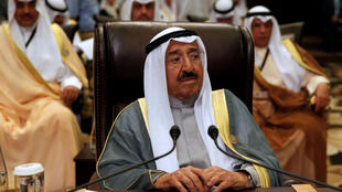 Emir of Kuwait Sabah Al-Ahmad Al-Jaber Al-Sabah attends the 28th Ordinary Summit of the Arab League at the Dead Sea, Jordan March 29, 2017.