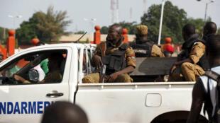 Image d'archives. Gendarmes à Ouagadougou, le 22 septembre 2015.