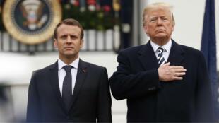 Los presidentes de Estados Unidos y Francia durante la visita de Estado de Emmanuel Macron a la Casa Blanca. 24 de abril de 2018.