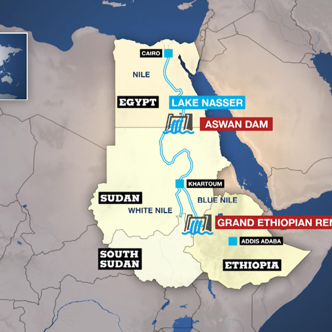 Tension on the Nile: Could Egypt and Ethiopia really go to war over water?  - The Debate