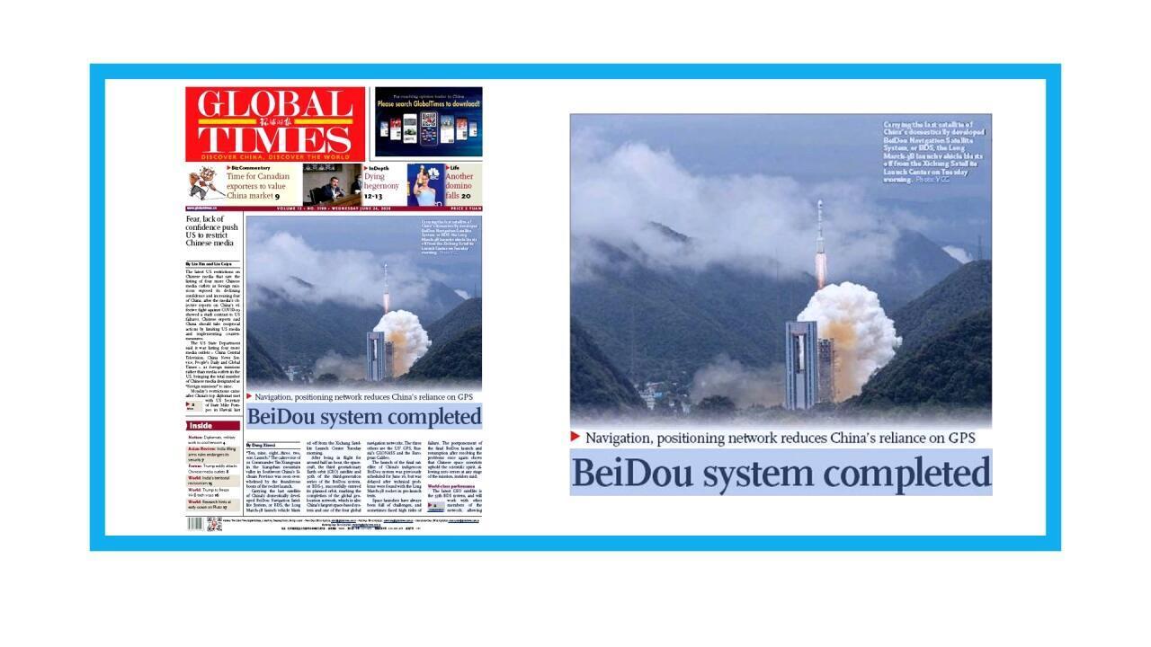 Lancement du dernier satellite du système de navigation chinois Beidou