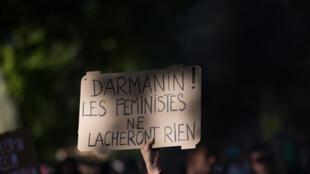 Manifestation contre la nomination de Gérald Darmanin au ministère de l'Intérieur, le 10 juillet 2020 à Nantes