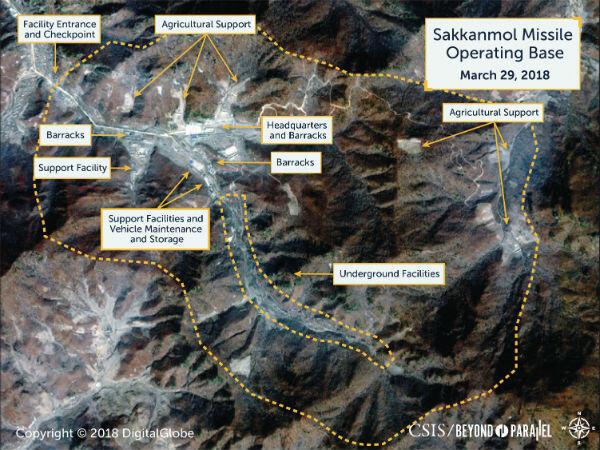 La base de missile de Sakkanmol