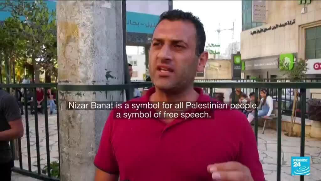 2021-06-28 12:07 Palestinians protest against Abbas after activist's death