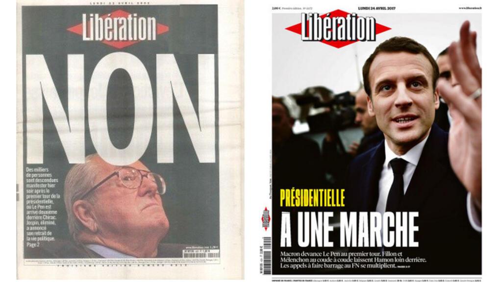 Pour comprendre la banalisation du FN, il faut comparer les unes de la presse du 21 avril 2002 et celles d'aujourd'hui