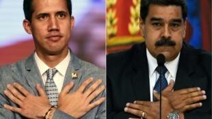 Delegations representing Venezuelan President Nicolas Maduro (R) and self-declared interim president Juan Guaido (L) are meeting in Barbados for dialogue