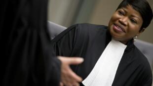 مدعية المحكمة الجنائية الدولية فاتو بنسودا في المحكمة في لاهاي في 4 نيسان/ابريل 2018