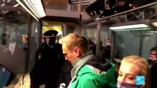 2021-01-18 12:36 Alexéi Navalny, crítico del Kremlin, fue arrestado a su llegada a Moscú