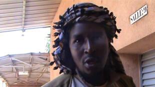 Capture d'écran d'une vidéo réalisée en septembre 2012 dans laquelle figure Aliou Mahamar Touré.