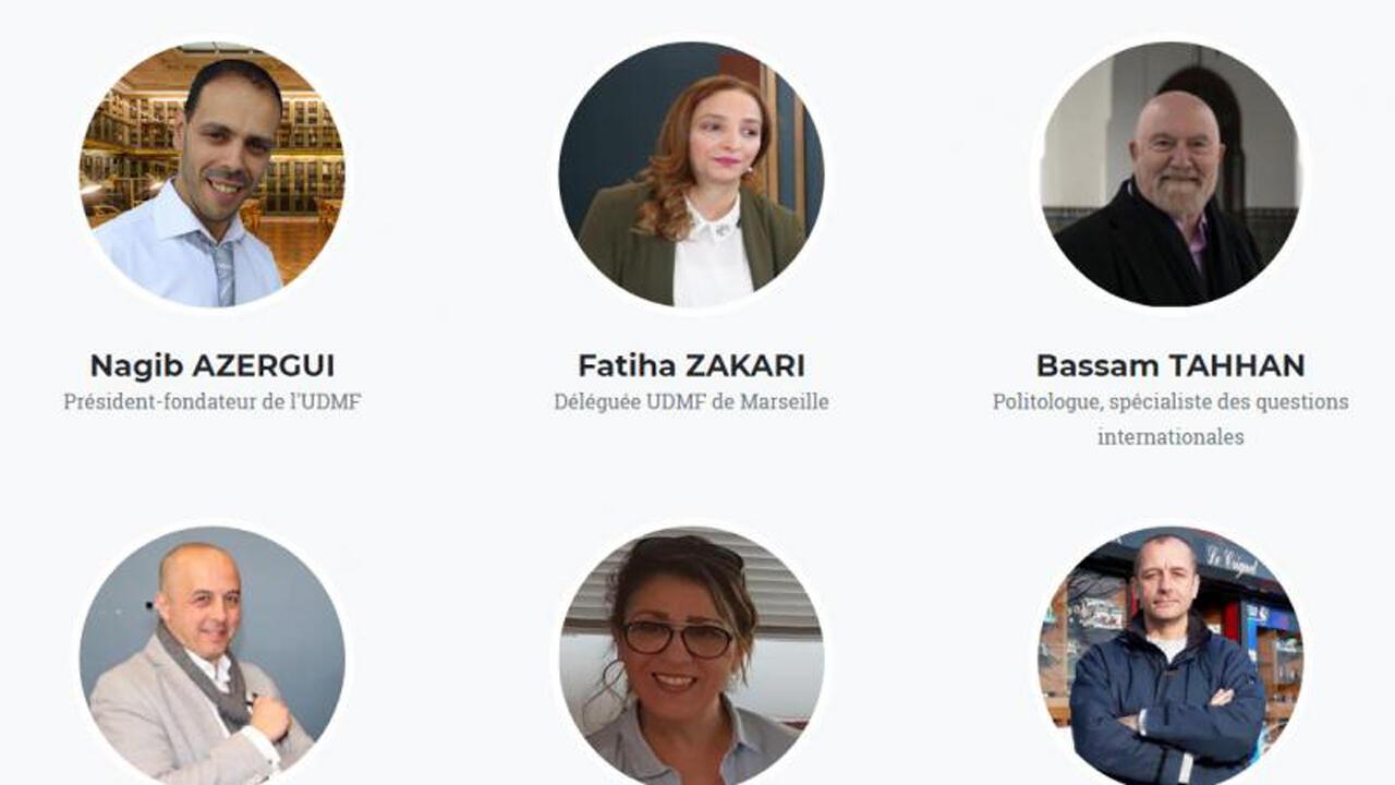 Algunos de los íntegrantes de la lista de la Unión Demócrata de Musulmanes Franceses.