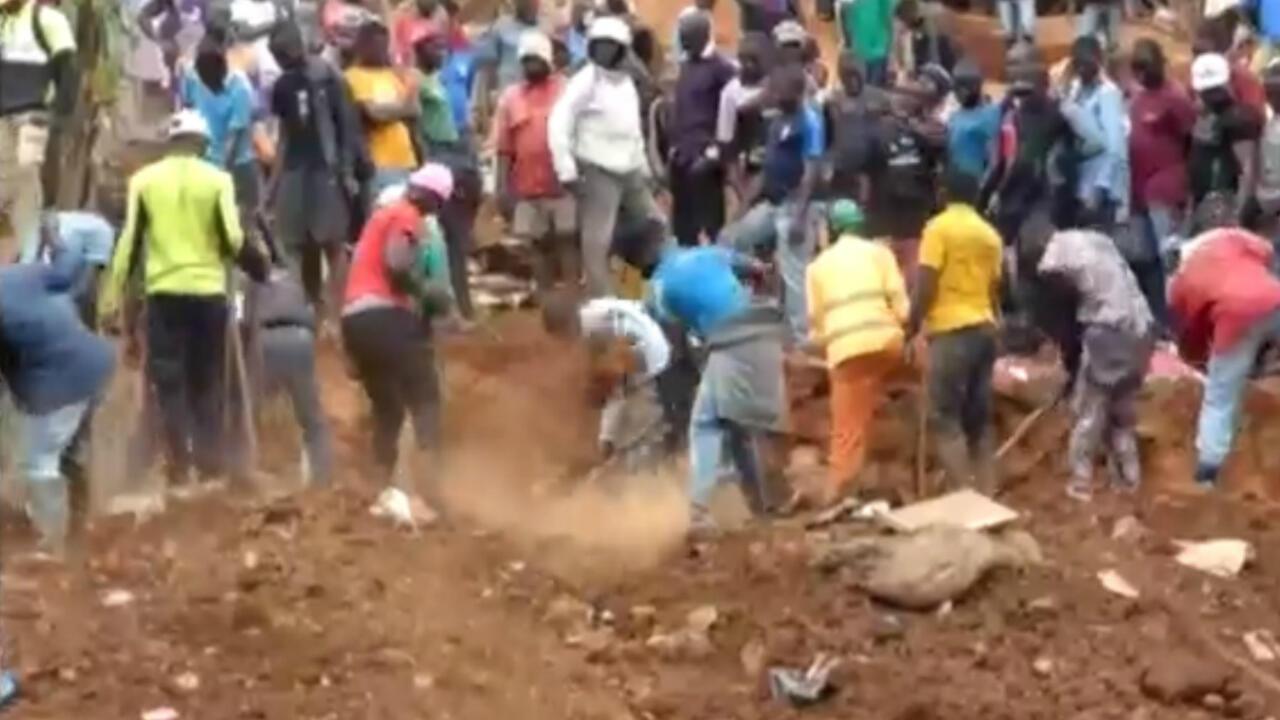 Cameroon landslide F24 screengrab