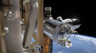 SpaceX's Crew Dragon is seen docked with the International Space Station