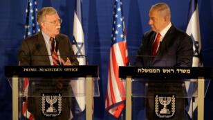 John Bolton, el asesor de seguridad nacional de Estados Unidos, durante su reunión con el primer ministro israelí, Benjamín Netanyahu, en Jerusalén el 6 de enero de 2019.