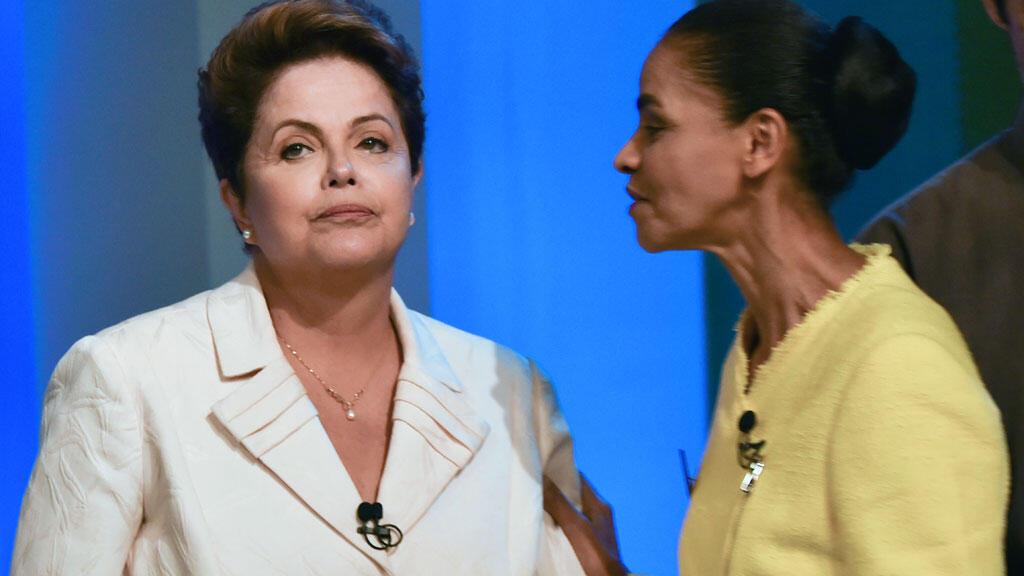 Dilma Rousseff et Marina Silva à Rio.