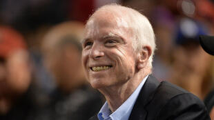 John McCain le 10 août 2017 à Phoenix, dans l'Arizona.