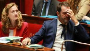 Le porte-parole du gouvernement Christophe Castaner, le 28 juillet 2017 à l'Assemblée nationale, à Paris.