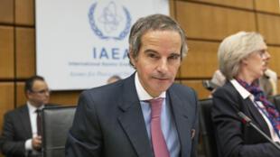 مدير عام الوكالة الدولية للطاقة الذرية رافايل غروسي في فيينا في 9 آذار/مارس 2020